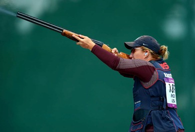 Kim Rhode competes for her fifth Olympic gold medal. (Photo by USA Shooting)