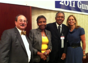 Alan Gottlieb, Laura McDonald, Otis McDonald and Julianne Versnel at the 2011 Gun Rights Policy Conference in Chicago, Illinois.