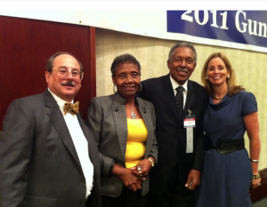 Alan Gottlieb, Laura McDonald, Otis McDonald and Julianne Versnel at the 2011 Gun Rights Policy Conference in Chicago Illinois