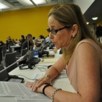 SAF's Julianne Versnel addressing the UN