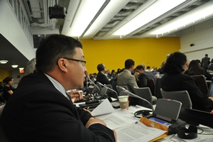 NFA's Sheldon Clare at the UN