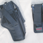 These are the holster and the mag holder from OPI. Both are made of a nylon material and can be used left- or right-handed.