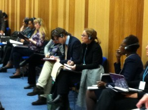 Julianne Versnel of IAPCAR and SAF this week at the UN World Forum meeting in Vienna Austria.