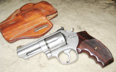 "The author's Model 66 ""River Gun"" and its DeSantis holster made for the perfect