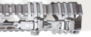 Knight Armament's 45-degree Offset back-up sights (mounted together for photographic reasons) mounted on Fortis' Rev Rail