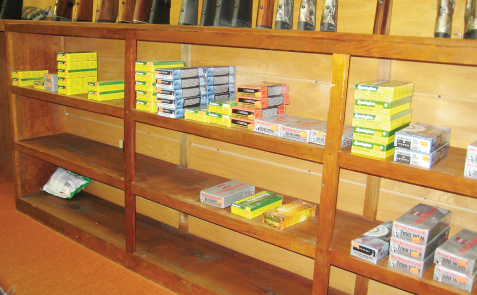 This was pretty typical of the shelves of centerfire rifle ammunition seen in all stores during the author's travels.