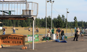 The Evergreen Sportsmen's Club hosted the event. This facility is located about a dozen miles south of Olympia, the state capital.