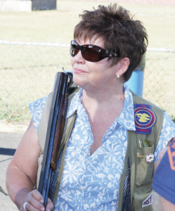 Washington state Sen. Pam Roach (R- 31st Dist.) brought her shotgun to the event and fired a round of trap.