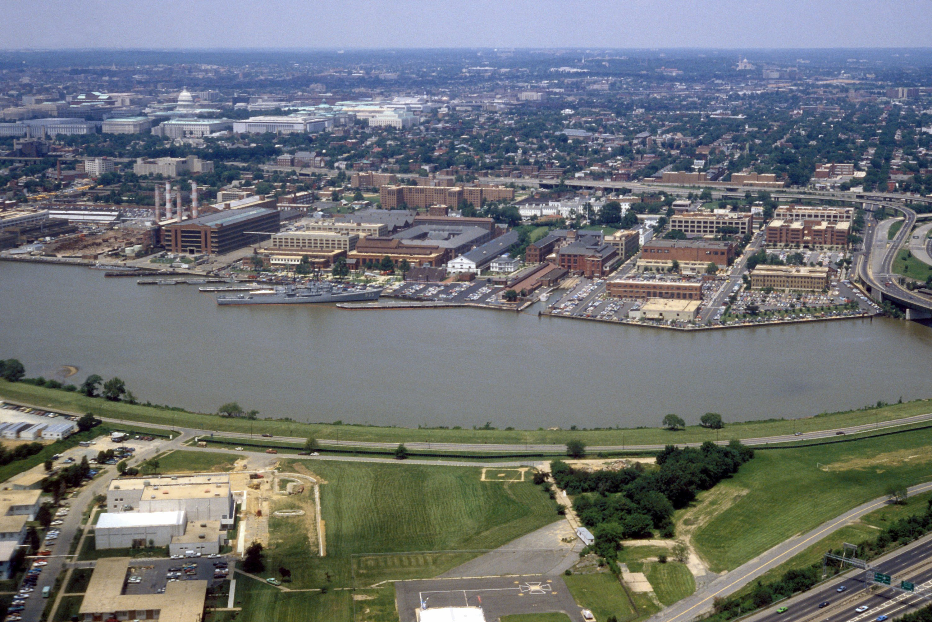 Washington Navy Yard aerial view