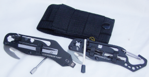 Leatherman's Pump (left) and Cam (right) tools, showing how the tools fit and are stored.