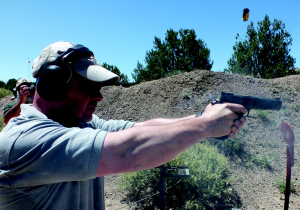 Travis Tomasie put the 14/45 through the paces for us. Para product line manager Daniel Cox was no slouch.