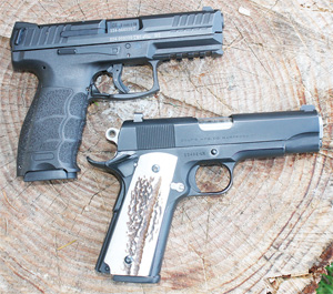 One can see that modern polymer-framed pistols lack something over classics like the Colt Commander when it comes to dressing them up and personalizing them.