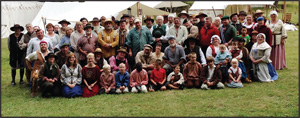Whispering Pines Cap & Flint Club 2014 Rendezvous picture of partial camp. Note all the children. Photo courtesy Brittany Hogue