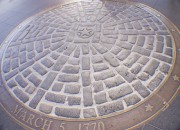 March 5, 1770 Boston Massacre Marker in front of the State House Boston.