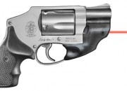 Revolvers fare best with a line of sight laser mounted under the barrel lug. This compact LaserMax unit emits a strong red beam. The configuration may add to comfort in pocket carry, but choose the pocket holster wisely.