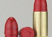 AM Precision's signature red bullets are completely enclosed in a polymer coating.