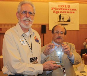 AzCDL's Fred Dahnke is honored by CCRKBA's Alan Gottlieb as the Grass Roots Activist of the Year at the Gun Rights Policy Conference in Phoenix.