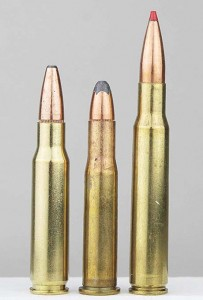 Choosing the most common calibers ups your options. The .308 Win, .30-30 and .30-06 all use the same diameter bullets. The .30 magnums and 7.62x54 use them too, and though not ideal, they're better than nothing in the 7.62x39 and .303 British, for example.
