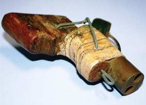 (Kiel Images) A rough, but workable, double-barrel .38 pistol was confiscated by prison security in Michigan in 2010.