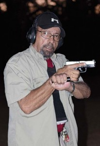 Renowned veteran self-defense expert and shooting instructor Massad Ayoob is shown here wearing an Armor Express ballistic vest while teaching night shooting. Ayoob is not the only shooting instructor in TGM staff's acquaintance who does wear a vest whenever it seems appropriate.