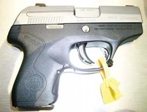 The diminutive Beretta Pico .380 pistol.