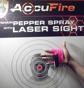 Guard Dog's pepper spray and flashlight glove.