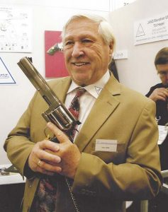 Herr Uwe Janz, the man behind the big German-manufactured Janz Type S-EM-S revolver that offers easily interchangeable barrels and calibers.