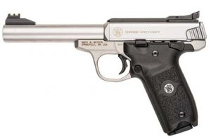 The new, modular S&W Victory rimfire .22 pistol.