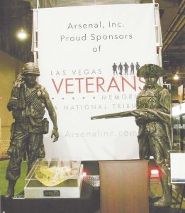 Arsenal Inc. (aresenalinc.com) had a nice bronze memorial tribute to veterans, from the Revolutionary War (on right) to the modern era (on the left).
