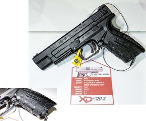 """Springfield Armory's 5"""" Tactical with Mod2 Grip to improve the ergonomics and feel of the XD."""