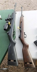 Inland Mfg.'s new M1 Carbine Scout (L) and Model 1944 is bringing new life to an iconic combat arms.