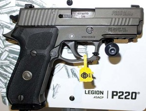 Sig's P220 Legion with its X-Ray Sights, another example of Sig offering pistols to meet the demands of shooters today.