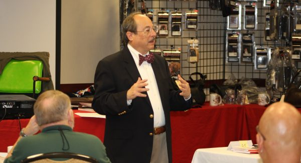 Alan Gottlieb, shown here at a training event, blasted Democrats over the gun control sit-in. (Dave Workman photo)