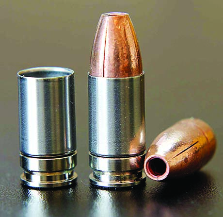 L-Tech uses a new case from SST to load its Full Stop ammunition. (Author's photo)