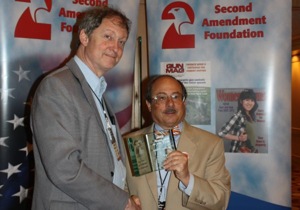 John Lott with CCRKBA's  Alan Gottlieb at the Gun Rights Policy Conference. (Dave Workman)