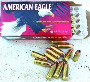 Federal's American Eagle .38 Super loads gave a clean burn and good accuracy.