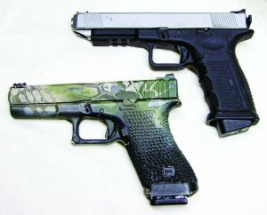 You can see how sleek the Timberwolf is when compared to my 20-year-old G17.