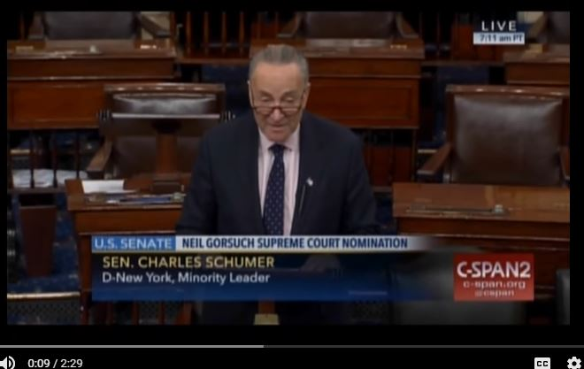Charles Schumer (Source: YouTibe, C-SPAN)