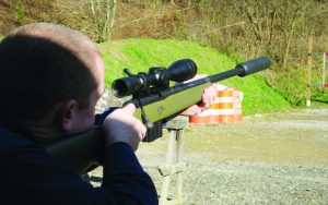 The MVP is suppressor ready. Here Gary Powers engages a distant target with the TR 223.