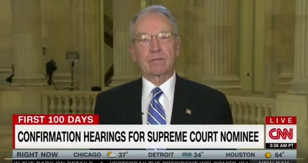 Senator Charles Grassley. (Screen capture: YouTube, CNN)