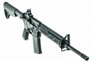 The Saint as she ships from Springfield Armory, a solid carbine that can be turned into a fine 3-Gun rifle.