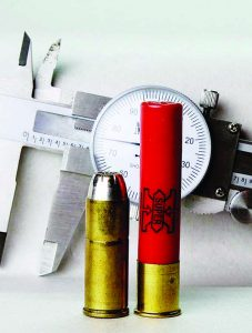 "Because outside dimensions differ by only about .003"", the .45 Colt and .410 shotshell can share long-enough chambers."