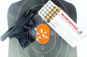 While it's hardly a target pistol, accuracy is reasonable for a subcompact and lightweight pistol. This target was shot at seven yards.