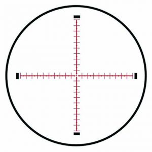 MRAD MOA Reticle the author used. It's fast and accurate once zeroed.