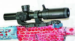 Lucid's L7 Scope mounted atop a Springfield Armory Saint for 3-Gun competition. It's a formidable combination.