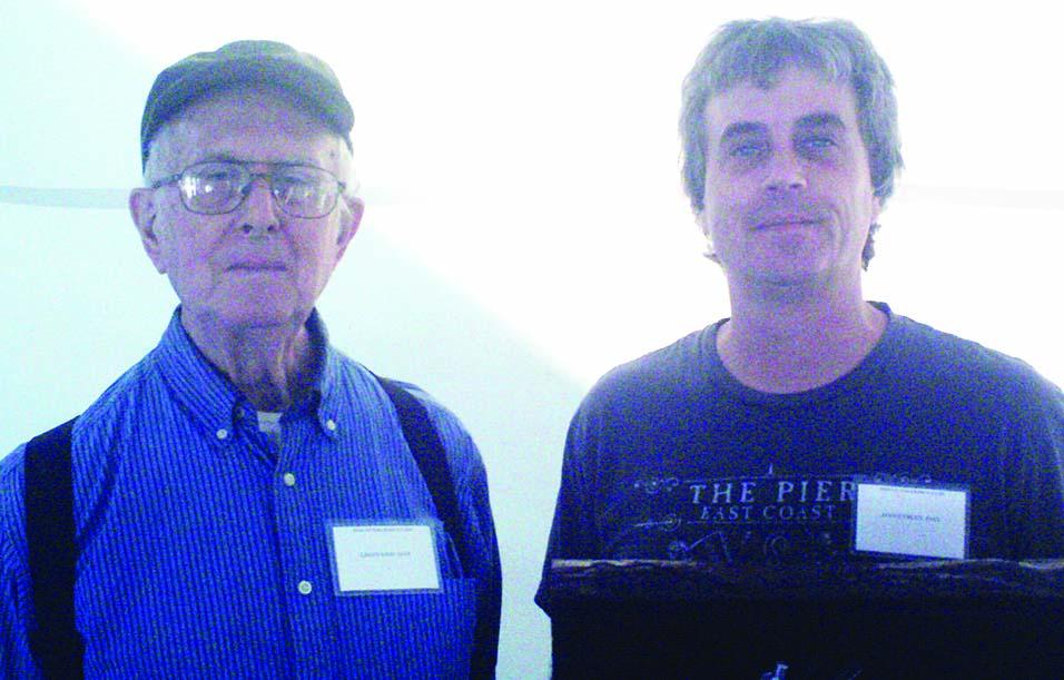 Leonard Day Jr., left, and his son John Day.
