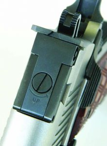 The adjustable sight of the Ruger SR1911 is vault tough.