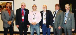 First state legislative panelists, L to-R, Craig DeLuz, Richard Pearson, Alexander Roubian, Jerry Henry, Stephen Aldstadt and Dave Kopp.