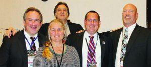 Pro-gun attorney panelists, L to R., Dan Schmutter, Esq., Paloma Capanna, Esq., Don Kilmer, Esq., Eric Friday, Esq., and Sean Maloney, Esq.