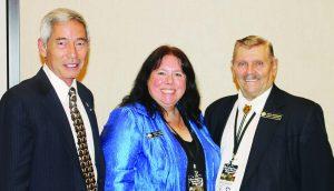 NRA Board Members, L to R, Willes Lee, Linda Walker and John Cushman.